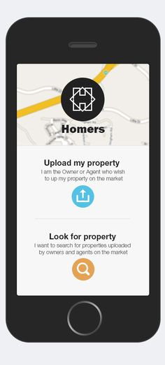 Homers is a mobile application which allows users to Upload(sell/rent) and Search(buy) real  estate .