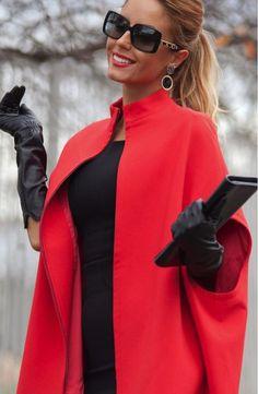 Выкройка стильного пальто-накидки к весне