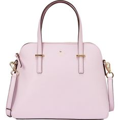 Kate Spade New York Cedar Street Maise Convertible Satchel ($298) ❤ liked on Polyvore featuring bags, handbags, pink, kate spade satchel, handbag satchel, convertible handbag, woven handbags and pink satchel handbags
