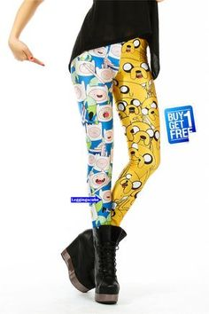 Adventure Time Tights Yoga Leggings cotton-Kawaii Sock-NOT Adventure Time Shirt adventure time shoe sweater pin poster sword squishies K049 on Etsy, $19.70