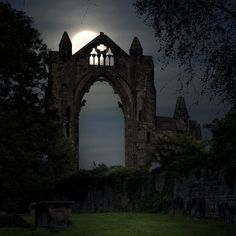 Moonlight at the priory, Guisborough / England by Yorkshire Sam