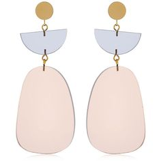 Isabel Marant Women Plexi Earrings ($245) ❤ liked on Polyvore featuring jewelry, earrings, accessories, beige, acrylic jewelry, nickel free earrings, earring jewelry, acrylic earrings and isabel marant