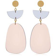 Isabel Marant Women Plexi Earrings found on Polyvore featuring jewelry, earrings, beige, isabel marant, acrylic earrings, nickel free jewelry, lucite jewelry and isabel marant jewelry
