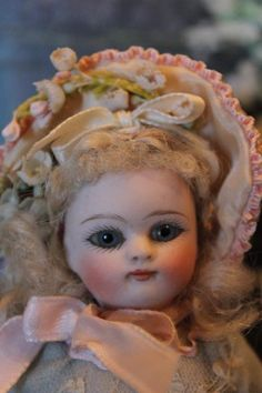 "French All Bisque Cutie with Amazing face! 6"" tall in size, original from terifoleysantiquedolls on Ruby Lane"