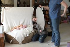 how to set up for Newborn photos