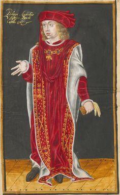 Philip I as Sovereign of the Order of the Golden Fleece. Livre du toison d'or, The Netherlands, 1590.