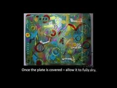 Easy Acrylic Skins with the Gelli Plate & an Art Journal Page by Robyn Wood - YouTube