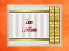 10 g (10x1g) Goldbarren zum Jubiläum mit Zertifikat Periodic Table, Frame, Gold Bullion Bars, Gifts, Certificate, Picture Frame, Periodic Table Chart, Periotic Table, Frames