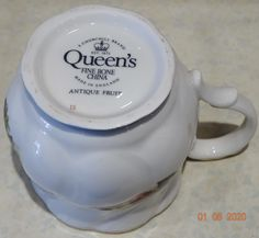 VINTAGE Queen's CHURCHILL Fine Bone China Cups Antique Fruit Collectible – British & Far East Traders Lifestyle & Shopping Blog Coffee Cups, Tea Cups, Beautiful Fruits, Lifestyle Shop, Churchill, Fine China, Mason Jars, Delicate, British