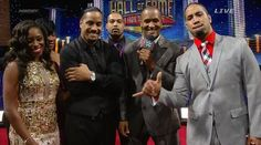 Jon Fatu (Jimmy Uso) & his wife Trinity McCray-Fatu (Naomi) along with his brother Josh Fatu (Jey Uso) at the WWE Hall of Fame Ceremony