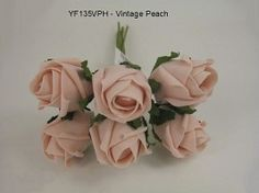 YF135VPH  JUBILEE ROSEBUD IN VINTAGE PEACH COLOURFAST FOAM Vintage Colors, Vintage Flowers, Bude, Bunch Of Flowers, Rose Buds, Wedding Bouquets, Peach, Colours, Pretty