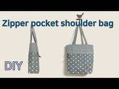 DIY Zipper pocket shoulder bag/Make a bag/Mach eine Tasche/バッグを作る/做個包 Pouch Pattern, Needle Lace, Couture, Bag Making, Louis Vuitton Damier, Shoulder Bag, Zipper, Pocket, Tote Bag