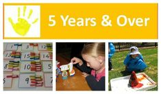 Over 45 Activities and Play Ideas for kids 5 Years & Over