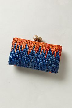 Mirrorball Straw Clutch
