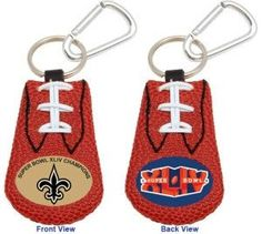 New Orleans Saints Football Keychain - Super Bowl 44 Champs