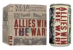 """allies win the war""     another great packaging concept from 21st Amendment Brewing Co."