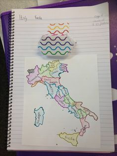 Interactive page of a year 8 Italian workbook.