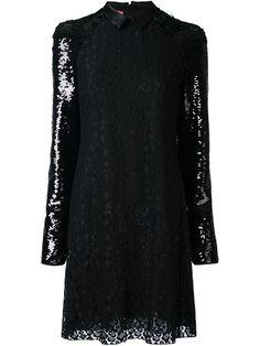 GIAMBA sequin and lace mini dress. #giamba #cloth #dress