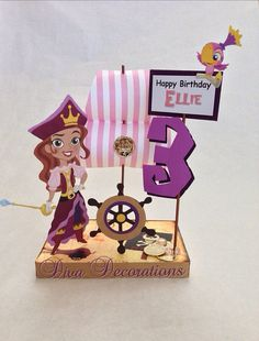 Princess Pirate from Jake and the Neverland Pirates Birthday Party Centerpiece Decoration