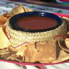 5 de mayo chips and salsa in a sombrero!