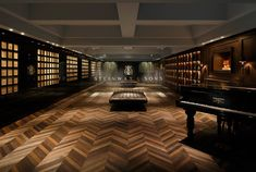 The design of the Steinway & Sons showroom in Tokyo is intended to reflect the craftsmanship of the instruments.