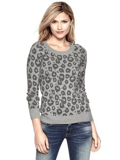 Gap | Animal print sweater