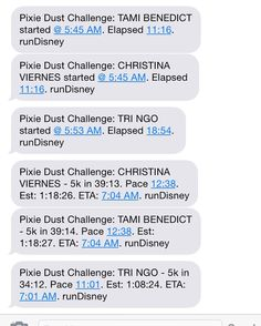Ahhh!! Finish strong guys! #pixiedustchallenge #10k #halfmarathon #disneyland #beasts by kathlyyyn