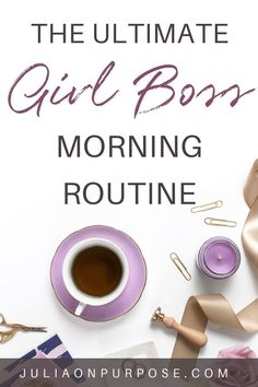 Here are some of my morning routines and daily habits to help you create your own morning routine. Kickstart your morning for a productive and focused day. Improve your mindset and practice self care by getting up early. #morningroutine #mindeset #productivity