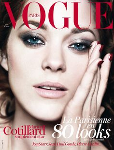 """lushluxeandlovely: """" The always stunning Marion Cotillard lands another Vogue cover. This time it's the August issue of Vogue Paris. Shot by Mario Sorrenti. Vogue Magazine Covers, Fashion Magazine Cover, Fashion Cover, Vogue Covers, Mario Sorrenti, Marion Cotillard, Vogue Paris, Patrick Demarchelier, Pierre Cardin"""