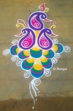 Margazhi Month Kolam – Spiritual and Scientific reasons behind that! Easy Rangoli Designs Diwali, Rangoli Designs Latest, Simple Rangoli Designs Images, Rangoli Designs Flower, Free Hand Rangoli Design, Rangoli Border Designs, Modern Mehndi Designs, Small Rangoli Design, Rangoli Patterns