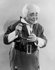 Cleveland Area History: Holiday shopping in Cleveland, Ohio. Mr Jingaling, keeper of Santa's keys.