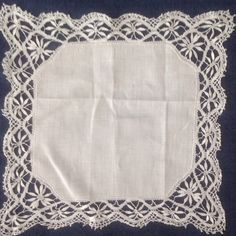 Gorgeous Vintage Handmade Wedding Hankie!  20% OFF & FREE SHIPPING on ALL Vintage Linens and Handkerchiefs until 8/29!