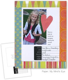 """Becky Higgins' free download, """"personal yearbooks."""" She has done this as a classroom project with her kids. Could also be a home project."""