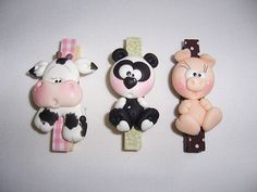 Made of fimo Polymer Clay Magnet, Clay Magnets, Fimo Clay, Polymer Clay Projects, Polymer Clay Creations, Cute Clay, Clay Figurine, Clay Animals, Farm Animals