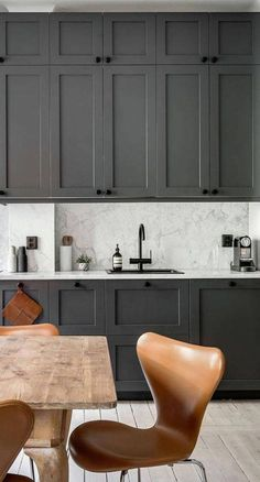 #kitchencabinets #kitchenideas #kitchendecor | For the Love of Hardware - Pairing Cabinetry Color with the Perfect Hardware | Design: BECKI-OWENS-Kitchens-we-Love-12 - Alexander White