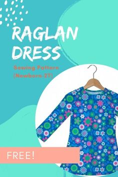 FREE sewing pattern for the Raglan Dress (Newborn-2T). This simple and easy to make dress closes with two snaps at the back, for size newborn through 2T, to make it easy to put the dress on. The designer recommends that you use knit fabrics when you make this dress. Sewing Patterns For Kids, Dress Sewing Patterns, Sewing For Kids, Free Sewing, Free Pattern Download, Modern Kids, Straight Stitch, Lovely Dresses, Baby Dress
