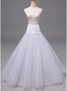 Women Polyester 3 Tiers Petticoats (037120408)