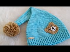 TEPEDEN BAŞLANAN KUKULETALI BEBEK ŞAPKASI AÇIKLAMALI | Nazarca.com Knitted Baby Clothes, Baby Hats Knitting, Knitting For Kids, Baby Knitting Patterns, Knitting Designs, Hand Knitting, Knitted Hats, Crochet Patterns, Crochet Beanie