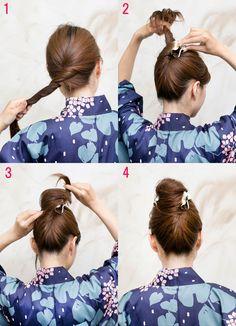 自分でできる浴衣ヘアアレンジ。バレッタとクリップで簡単アップスタイルにトライ!は、「acca(アッカ)」で開催。雑誌エディターが注目している2015年7月の東京女子向けトレンドニュースをチェックして! Cute Hairstyles For Medium Hair, Ponytail Hairstyles, Cool Hairstyles, Hair Up Styles, Medium Hair Styles, Hear Style, Hair Arrange, Aesthetic Hair, Anime Hair