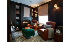 """""""Ladies of London"""" star Marissa Hermer gave """"DuJour"""" a grand tour of her and husband Matt's Chelsea flat. The couples loves to cozy up in the study."""