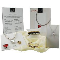 pearls from the Crystalp range Precious Metals, Dog Tag Necklace, Swarovski, Fashion Jewelry, Range, Jewellery, Pearls, Crystals, Handmade