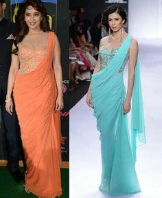 Saree gown by sonakshi raj