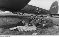 Heinkel He 111 and flight crew - September 1939