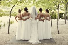 Bridesmaids in white {So Eventful wedding & events}