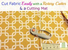 A rotary cutter and a cutting fabric makes measuring and cutting fabric easy! Sewing Patterns Free, Sewing Ideas, Sewing Projects, Diy Seat Covers, Cushion Covers, Outdoor Chair Cushions, Outdoor Fabric, Rotary Cutter, Cushion Fabric