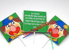 Einladungskarten - Kindergeburtstag Einladungen 3-er Set Clown - ein Designerstück von Reizvoll bei DaWanda