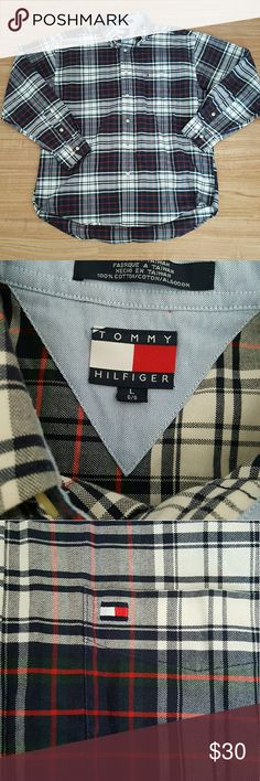 Vintage Tommy Hilfiger plaid button up. Vintage Tommy Hilfiger plaid button up. Size L Excellent condition like new. Tommy Hilfiger Shirts Casual Button Down Shirts