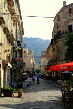 the main street...Calabria, Italy
