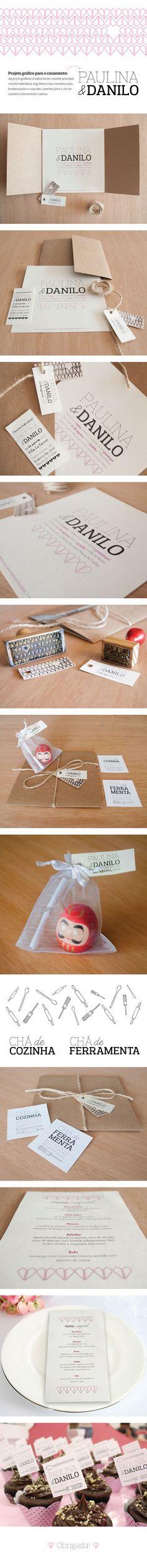 Paulina + Danilo wedding invitation on Behance