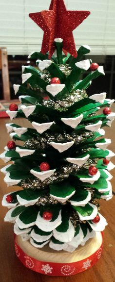 Hand Painted Pine Cone Christmas Trees by SeaShellsByCarrie on Etsy